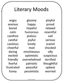 Literary Moods List