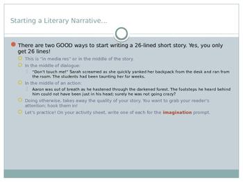 Literary Narrative Development - Powerpoint