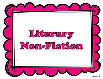 Word Wall Words for Literary Nonfiction