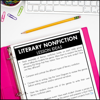 Literary Nonfiction - Reading Interactive Notebook