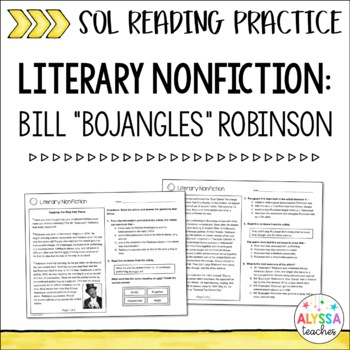 Literary Nonfiction Passages Worksheets Teaching Resources