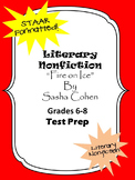 Literary Nonfiction STAAR formatted questions for Fire on Ice by Sasha Cohen