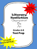 Literary Nonfiction STAAR formatted questions for Superpatriot from Avi