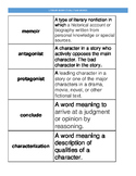 Literary Nonfiction and STAAR Vocabulary