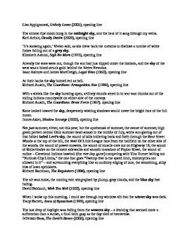Literary Opening Lines – Skies (350 stories)