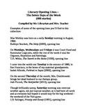 Literary Opening Lines – The Seven Days of the Week (400 stories)