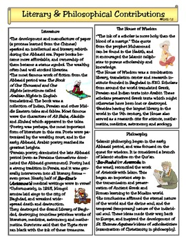 Literary & Philosophical Contributions of the Abbasid Era