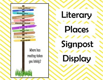 Literary Places Signpost Display