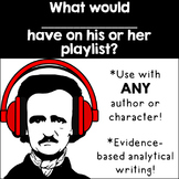Literary Playlist: A Fun Writing Activity to use with ANY Piece of Literature