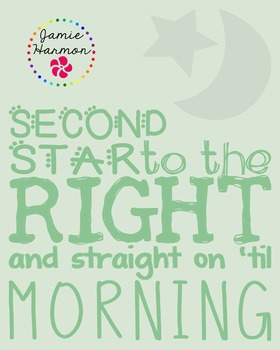 Literary Poster: Peter Pan Quote