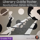 Literary Quotation Poster, Shape, Graphic Design, Calligraphy