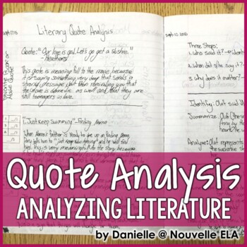 Literary Quote Analysis - Introductory PPT and Practice