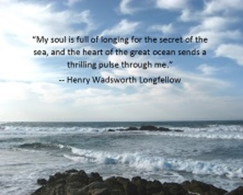 Literary Quote Poster: Henry Wadsworth Longfellow