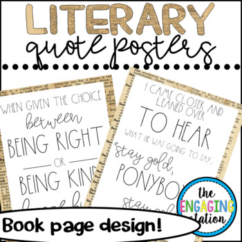 Literary Quote Posters - Book Page Designs
