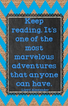 Literary Quote Posters - Colorful Chevron
