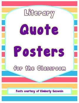 Literary Quote Posters for the Classroom