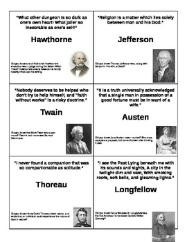 Literary Quotes Flash Cards