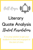 Literary Quotes Presentation - Bell Ringer