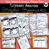 Literary Response Graphic Organizers, Task Cards and Journals PACK #1