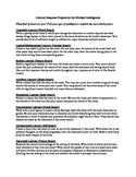 Literary Response Projects for the Multiple Intelligences