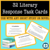 Literary Analysis Task Cards (review any short story or novel)