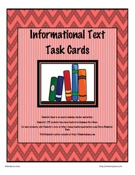 Literary Response and Informational Text Task Card Bundle