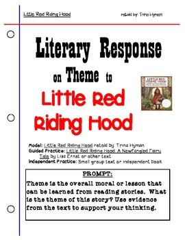 Literary Response for Theme:  Little Red Riding Hood (FREE)