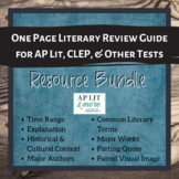 Literary Review Guide Bundle