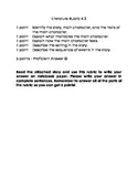 Literary Rubric - Standard 4.3 - FREEBIE