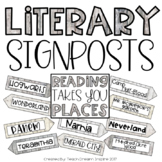 Literary Settings Signposts {Editable}