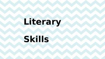 Literary Skills Wall