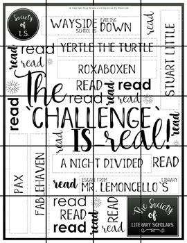 Literary Society 4th-6th Multi-Classroom Biannual Literacy Program Challenge #2