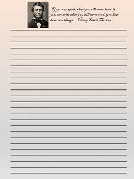 Literary Stationery  {Set #1: 19th Century American Authors}