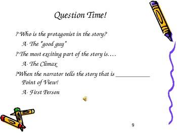 Literary Story Elements Power Point Presentation