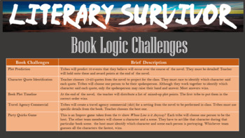 Literary Survivor- Fun Teamwork Reading Competition. Use w/ ANY LIT