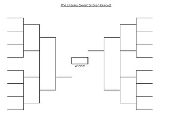 graphic about Sweet 16 Printable Bracket named Literary Adorable 16 Blank Bracket