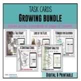 Literature Task Cards: ** Growing Bundle ** for novels and