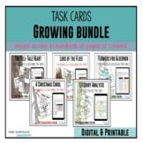 Literature Task Cards: ** Growing Bundle ** for novels and short stories