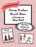 Literary Techniques Bulletin Board--Disney-Themed