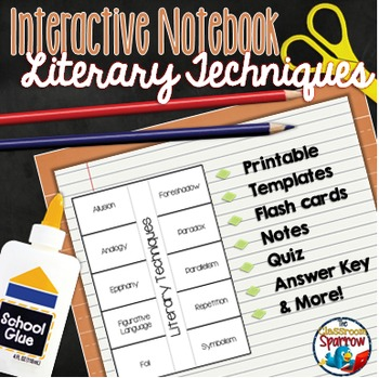 Literary Techniques (Activities for ELA Interactive Notebooks)