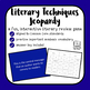 Literary Techniques Jeopardy Powerpoint Review Game