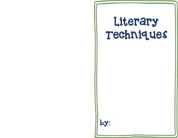 Literary Techniques Journal Assessment