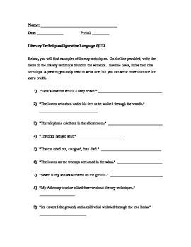 Literary Techniques Quiz