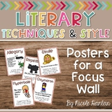 Literary Techniques and Style Posters for a Focus Wall