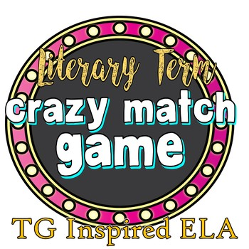 Literary Term Matching Game & Interactive journal insert