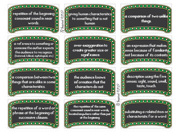 18 Literary Devices Game: Literary Analysis Vocabulary for STAAR / Pre-AP / CCSS
