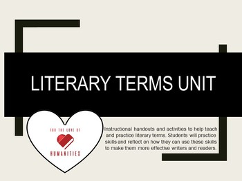 Literary Terms Unit