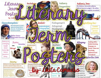 Literary Term Posters
