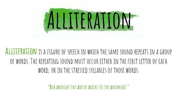 Literary Terminology Cards / Posters