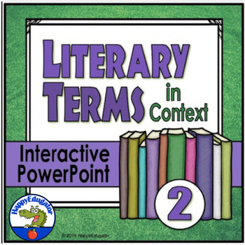 Literary Terms in Context 2 Interactive Test Prep